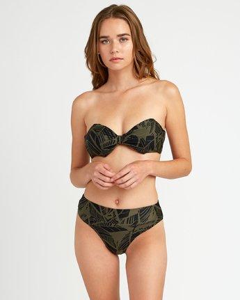 2 Harlo High Rise Cheeky Bikini Bottoms Green P3SBRHRVS9 RVCA
