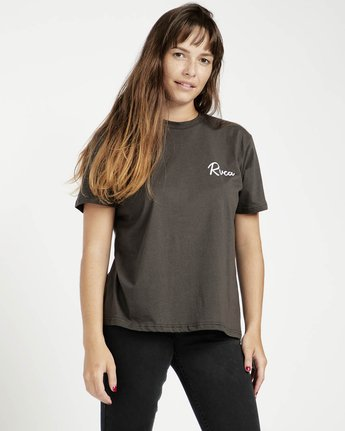 1 Tropicale Ss T-Shirt Black P3SSRERVS9 RVCA