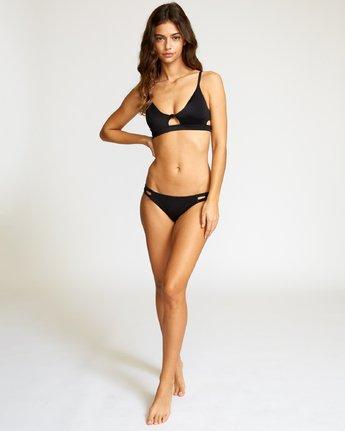 4 Solid Bralette Bikini Top Black P3STRERVS9 RVCA