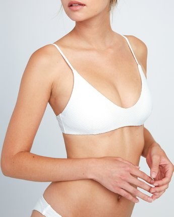 3 White Noise - Haut de bikini Bralette pour Femme Blanc P3STRGRVS9 RVCA