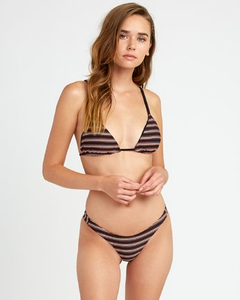 0 Bandit Striped Triangle Bikini Top for Women Black P3STRKRVS9 RVCA