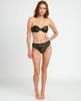 4 Harlo - Bandeau Bikini Top for Women Green P3STRMRVS9 RVCA