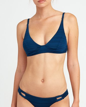 3 Rowan Bralette Bikini Top Blue P3STRURVS9 RVCA