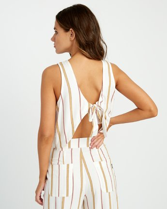 2 Note To Self Striped Top White P3TPRFRVS9 RVCA