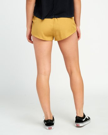 2 Cut Corners Elastic Soft Short Yellow P3WKRARVS9 RVCA