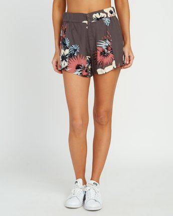 1 Reef High Rise Short Grey P3WKRGRVS9 RVCA