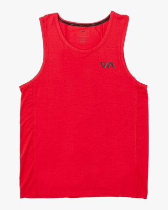 0 VA Vent - Sports Sleeveless Top for Men Red P4KTMBRVS9 RVCA