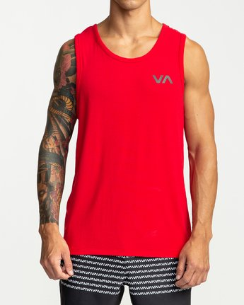 2 VA Vent - Sports Sleeveless Top for Men Red P4KTMBRVS9 RVCA