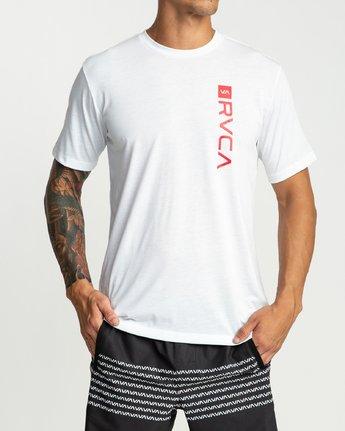 2 Rvca Revert Performance T-Shirt White P4SSMARVS9 RVCA