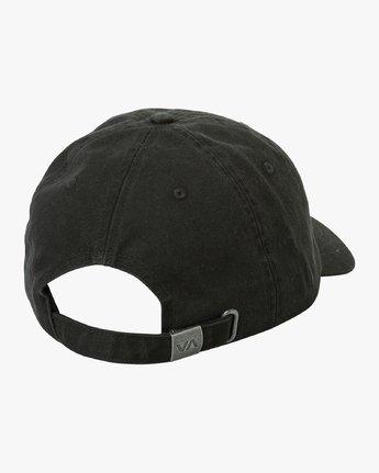 2 Crest  - Strapback Cap Black P5CPRFRVS9 RVCA