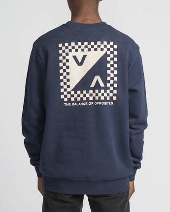 2 Check Mate Crew  - Sweatshirt  Q1CRRGRVF9 RVCA