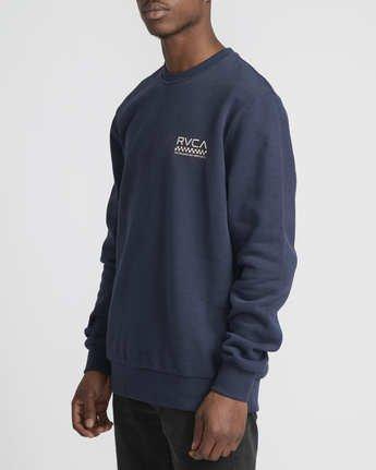 3 Check Mate Crew  - Sweatshirt  Q1CRRGRVF9 RVCA
