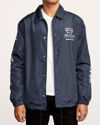 2 Berni Coaches  - Jacket Blue Q1JKRHRVF9 RVCA