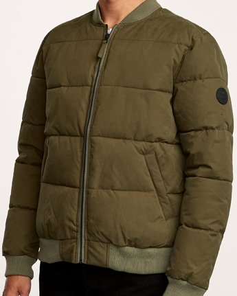 5 Superior Bomber  - Quilted Jacket Green Q1JKRIRVF9 RVCA