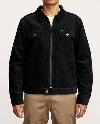 2 Easy Trucker  - Corduroy Sherpa Jacket Black Q1JKRJRVF9 RVCA