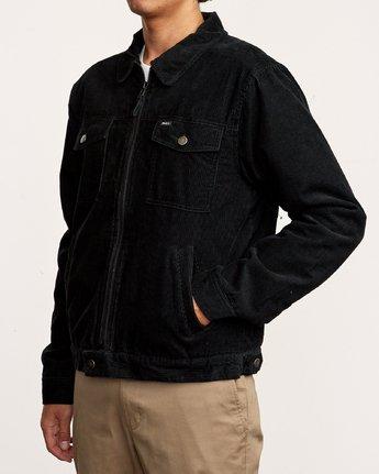 3 Easy Trucker  - Corduroy Sherpa Jacket Black Q1JKRJRVF9 RVCA