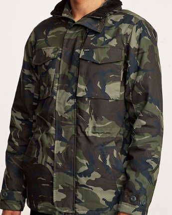 6 Field  - Canvas Coat Camo Q1JKRKRVF9 RVCA