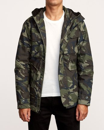1 Field  - Canvas Coat Camo Q1JKRKRVF9 RVCA