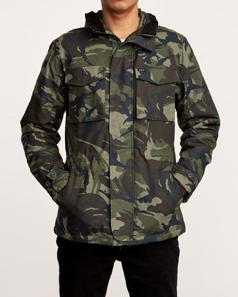 2 Field  - Canvas Coat Camo Q1JKRKRVF9 RVCA