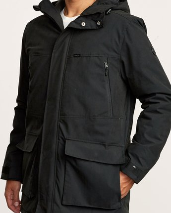 5 Patrol  - Parka Jacket Black Q1JKRLRVF9 RVCA