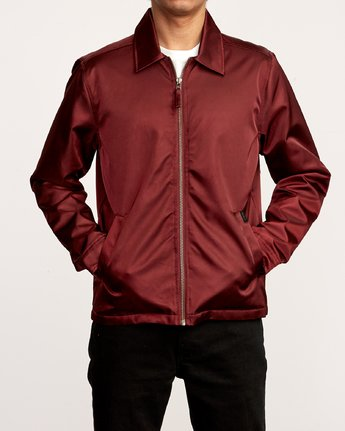 2 Supply  - Zip-Up Jacket Red Q1JKRMRVF9 RVCA