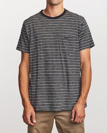 1 Foz Stripe Crew  - T-Shirt à manches courtes pour Homme Noir Q1KTRCRVF9 RVCA