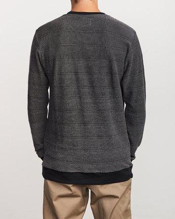 3 Luxury Long Sleeve Knit T - hirt Black Q1KTRERVF9 RVCA
