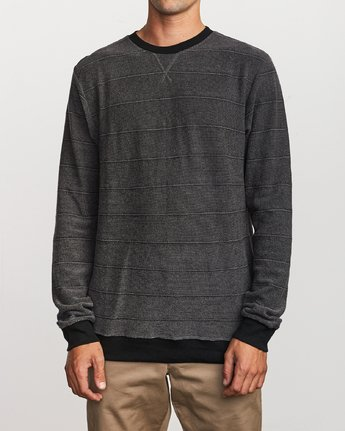 1 Luxury Long Sleeve Knit T - hirt Black Q1KTRERVF9 RVCA