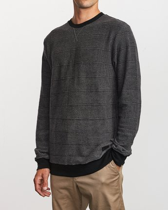 2 Luxury Long Sleeve Knit T - hirt Black Q1KTRERVF9 RVCA