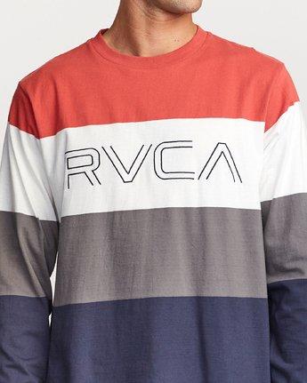 3 Shifty  - Long Sleeve Knit T-Shirt Red Q1KTRJRVF9 RVCA