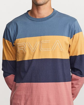 4 Shifty  - Long Sleeve Knit T-Shirt Blue Q1KTRJRVF9 RVCA