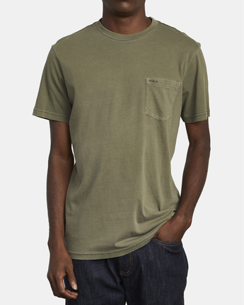 2 Ptc 2 Pigment - Pocket T-Shirt for Men Green Q1KTRORVF9 RVCA
