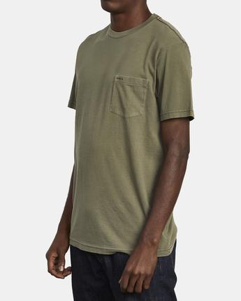 4 Ptc 2 Pigment - Pocket T-Shirt for Men Green Q1KTRORVF9 RVCA