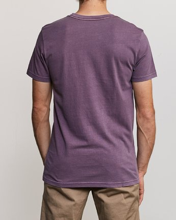 3 Ptc 2 Pigment - Pocket T-Shirt for Men Purple Q1KTRORVF9 RVCA