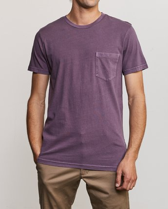1 Ptc 2 Pigment - Pocket T-Shirt for Men Purple Q1KTRORVF9 RVCA