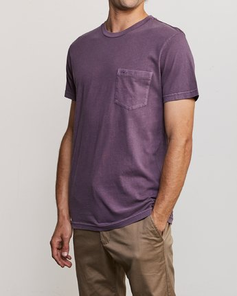 2 Ptc 2 Pigment - Pocket T-Shirt for Men Purple Q1KTRORVF9 RVCA