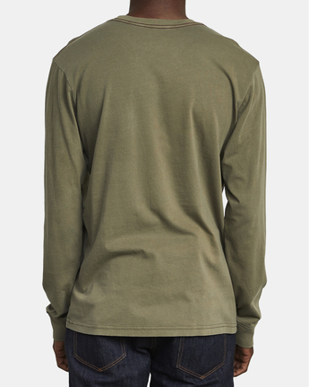 3 PTC Pigment  - Long Sleeve T-Shirt Green Q1KTRPRVF9 RVCA