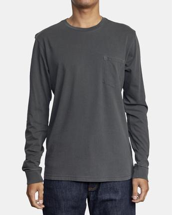 1 PTC Pigment  - Camiseta de manga larga para Hombre Negro Q1KTRPRVF9 RVCA