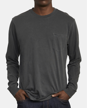 2 PTC Pigment  - Long Sleeve T-Shirt Black Q1KTRPRVF9 RVCA