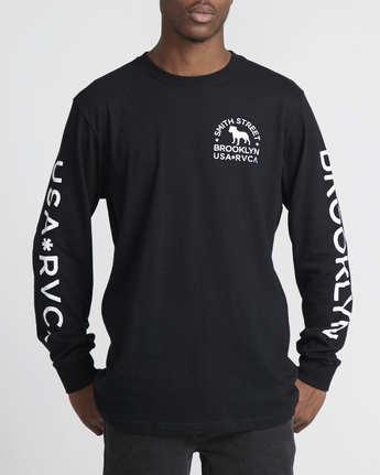 2 Smith Street Wicks  - Long Sleeve T-Shirt for Men Black Q1LSRCRVF9 RVCA