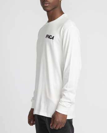 3 Roberto Rodriguez Redondo Screaming Bat  - Long Sleeve T-Shirt White Q1LSRDRVF9 RVCA