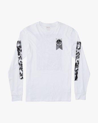 1 Martin Ander Mander  - Long Sleeve T-Shirt for Men White Q1LSRERVF9 RVCA