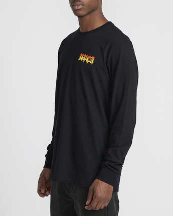 1 Martin Ander Mander  - Long Sleeve T-Shirt Black Q1LSRERVF9 RVCA