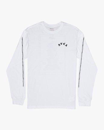 1 Benjamin Jeanjean JJ Mix  - Long Sleeve T-Shirt White Q1LSRFRVF9 RVCA