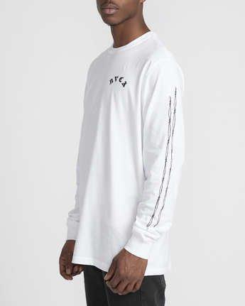 3 Benjamin Jeanjean JJ Mix  - Long Sleeve T-Shirt White Q1LSRFRVF9 RVCA