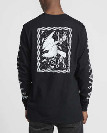 5 Benjamin Jeanjean JJ Mix  - Long Sleeve T-Shirt for Men Black Q1LSRFRVF9 RVCA