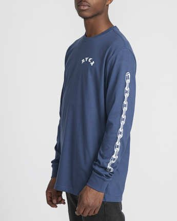 3 Benjamin Jeanjean JJ Mix  - Long Sleeve T-Shirt for Men Blue Q1LSRFRVF9 RVCA