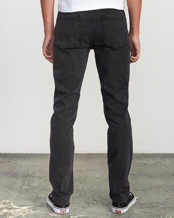 3 Hexed Denim - Jeans in Denim con Vestibilità Slim da Uomo Black Q1PNRCRVF9 RVCA
