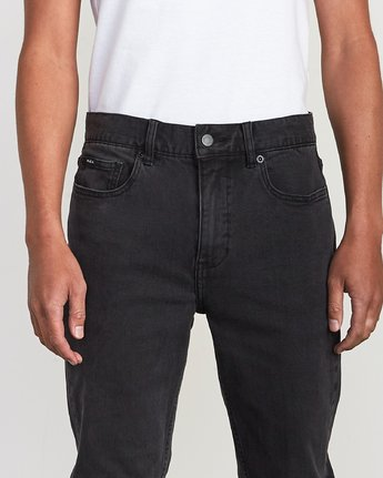 6 Hexed Denim - Jeans in Denim con Vestibilità Slim da Uomo Black Q1PNRCRVF9 RVCA