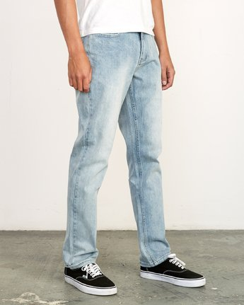 6 Weekend Denim - Jeans in Denim con Vestibilità Straight da Uomo Beige Q1PNRERVF9 RVCA